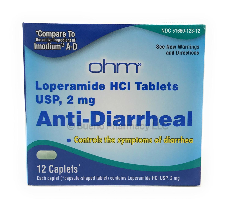Anti Diarrea  Ohm 12 Caplets