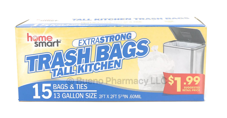TRASH BAG 13 GALLON 15PCS