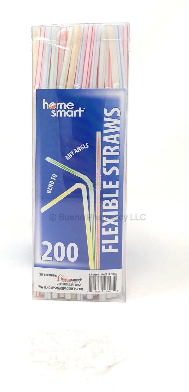 PLASTIC STRAWS BOX H.S. 200 PK