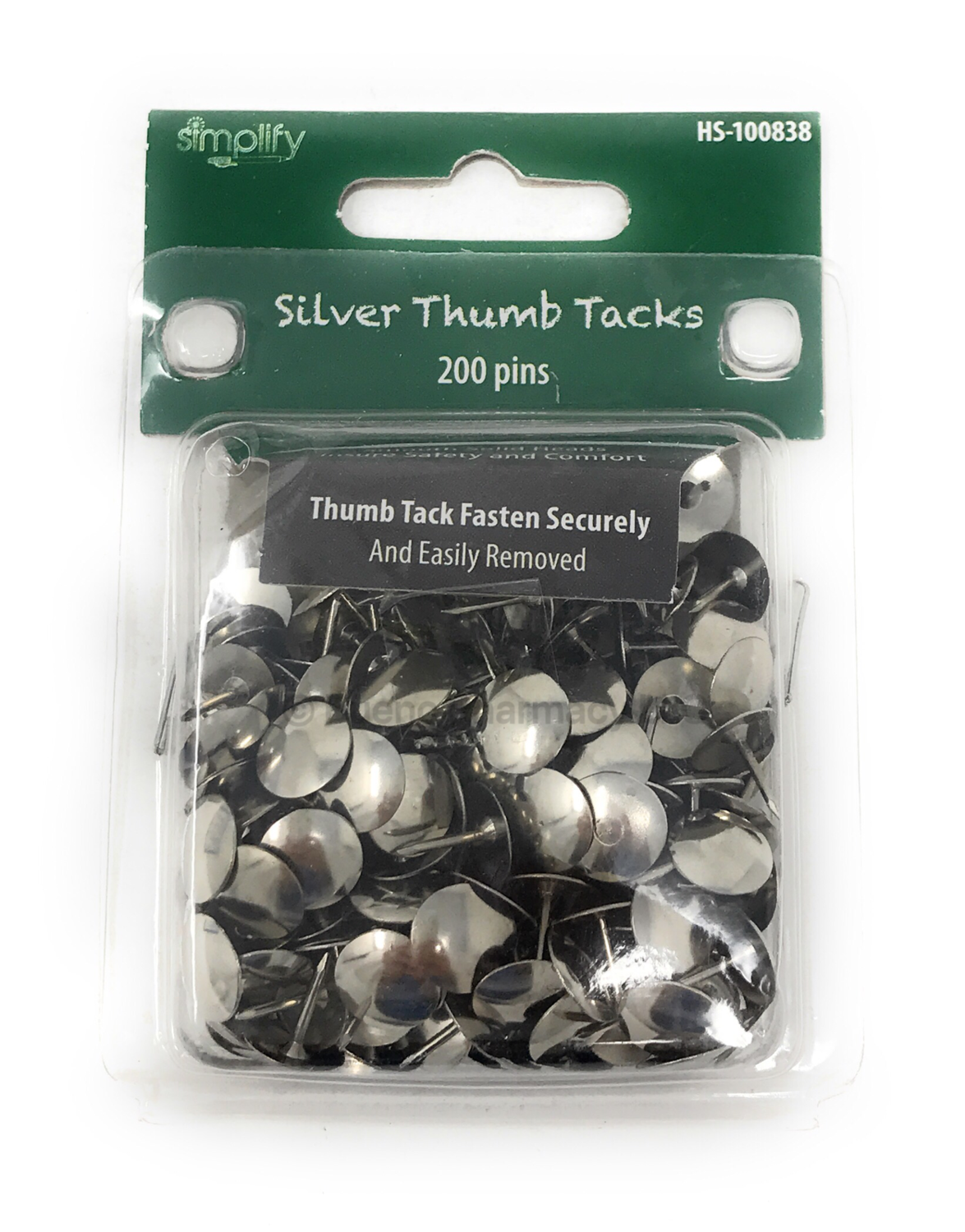 THUMB TACKS SILVER SIMPLIFY 200P