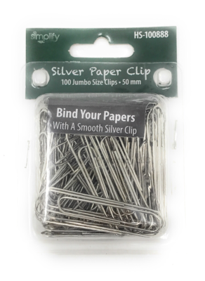 Silver Paper Clips 100