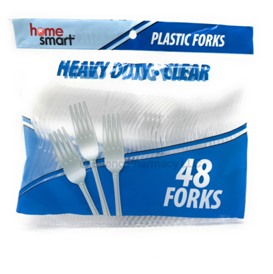 CUTLERY H.S. BAG CLEAR FORKS 48