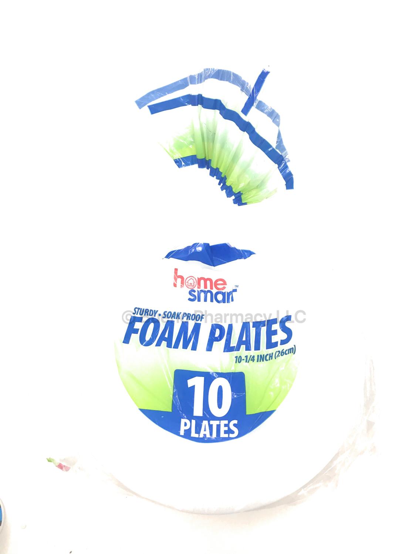 "FOAM PLATE H.S.COMPART.10.25"" 10 Plates"