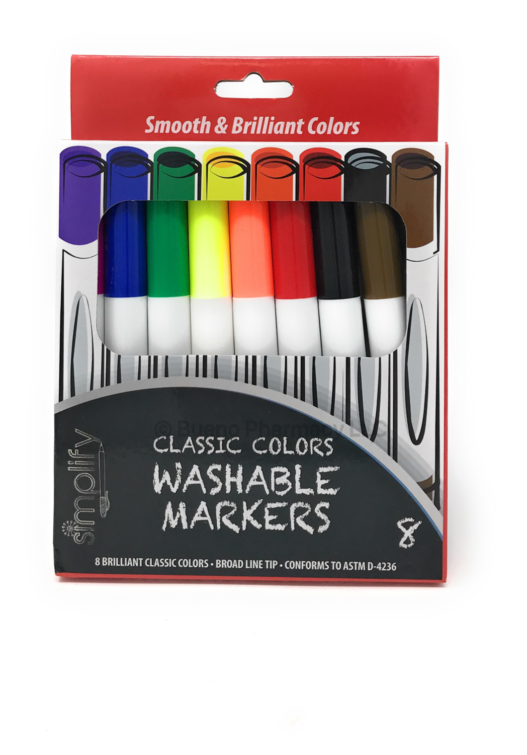 MARKERS WASHABLE SIMPLIFY 8 PK