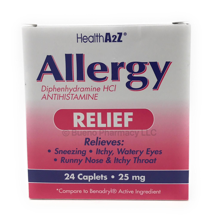 ALLERGY RELIEF Diphenhydramine A&Z 24CAPLETS