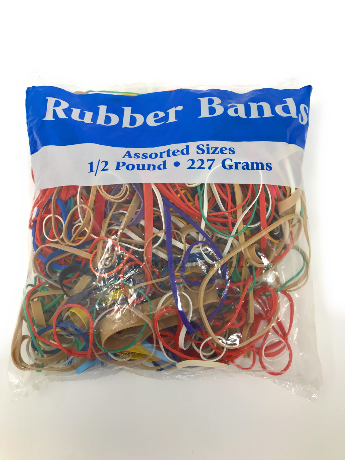 Rubber Bands 1/2 Pound Assorted Sizes