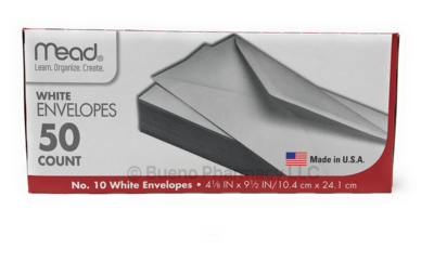 50 Mead White Envelopes