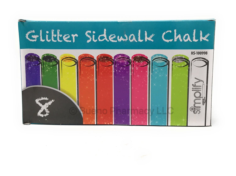 GLITTER SIDEWALK CHALK 8 PK