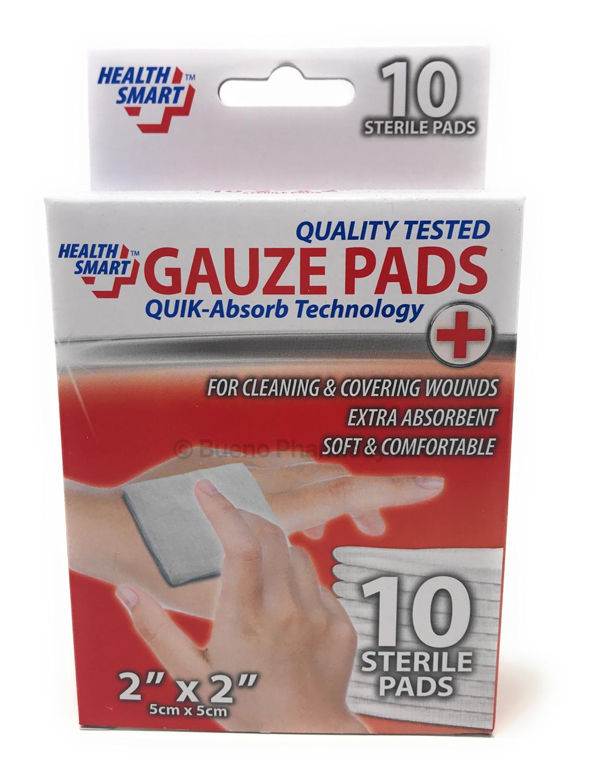 """GAUZE PADS STERILE HS 2""""X2"""" (5 cm x 5 cm) 10PK"""