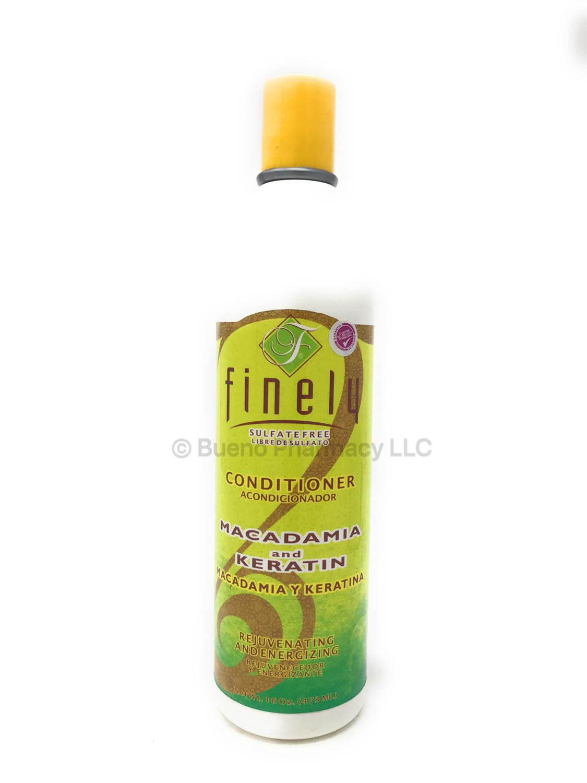 Finely Macadamia y Keratina shampoo 16oz