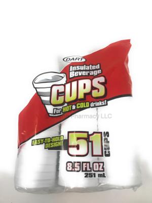 FOAM CUPS 8.5 OZ  51PK