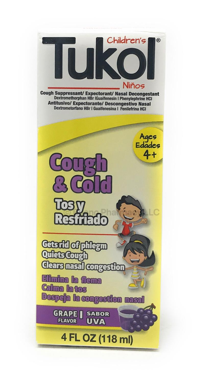Tukol Children Cough And Cold Uva 4oz