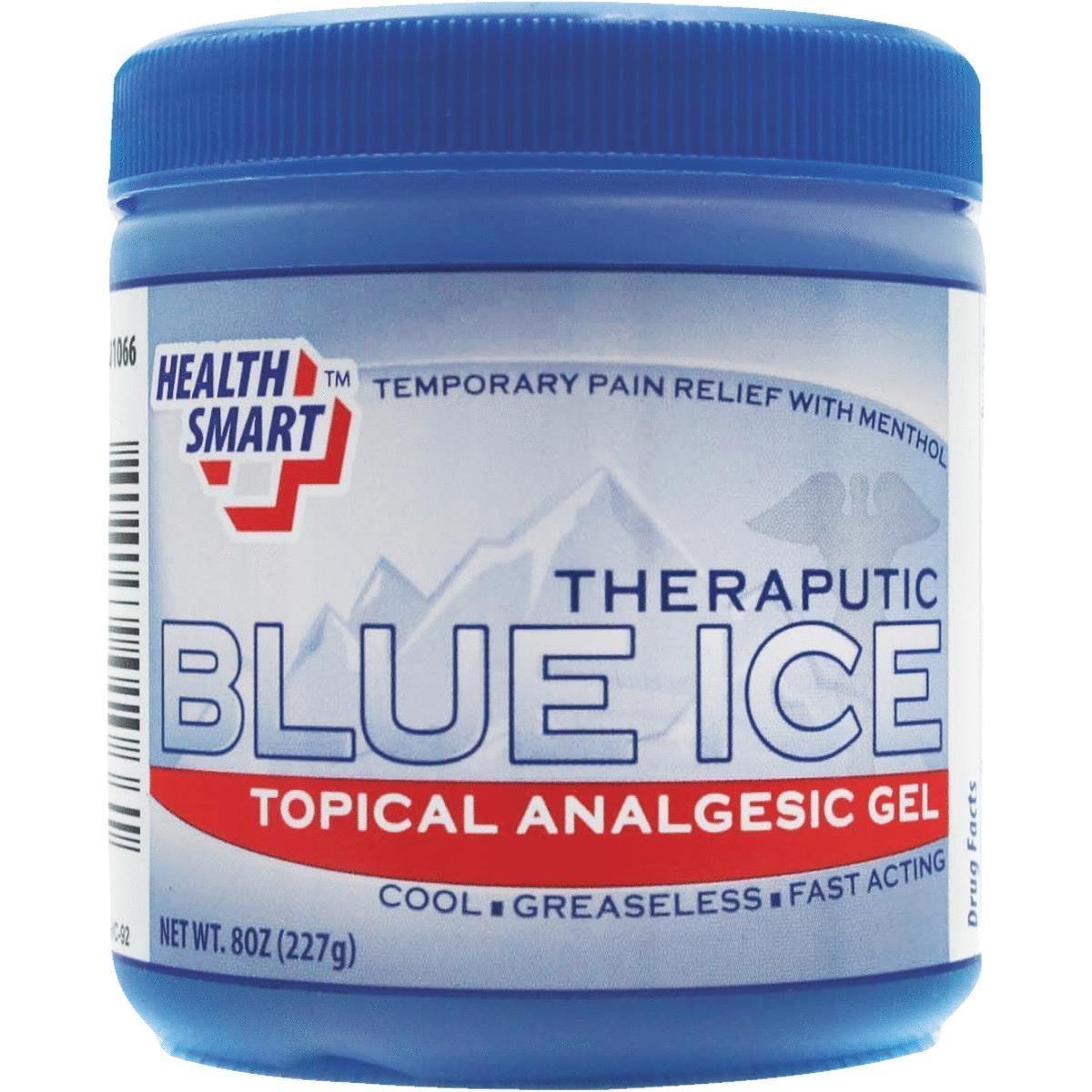 Blue Ice Gel Health Smart Tropical Analgesic Gel 8OZ