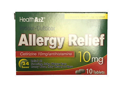 ALLERGY 24HR IN/OUT DOOR A&Z Cetirizine 10mg 10 Tab