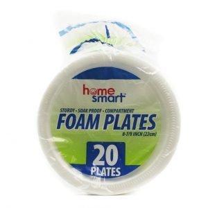 FOAM PLATES H.S.8 7/8 20PC