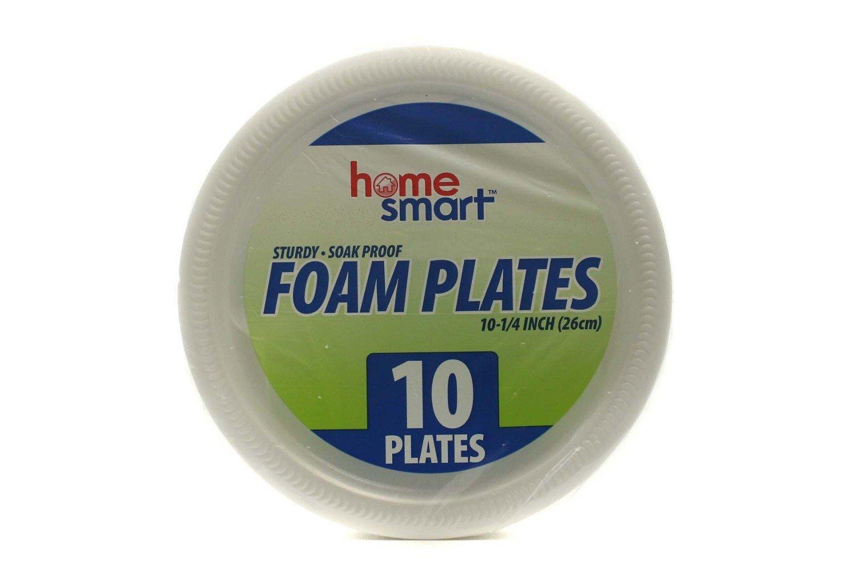 "FOAM PLATES HOME SMART 10.25"" 10 Plates"