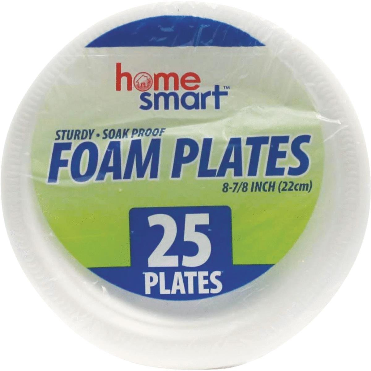 FOAM PLATES HOME SMART 25PCS