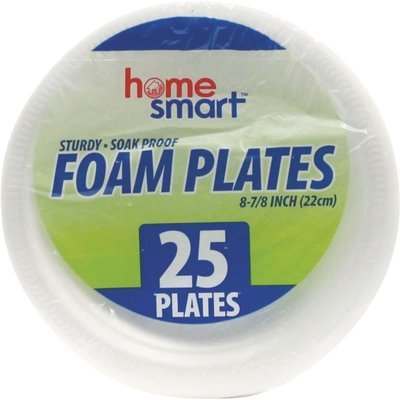 FOAM PLATES HOME SMART 25PCS
