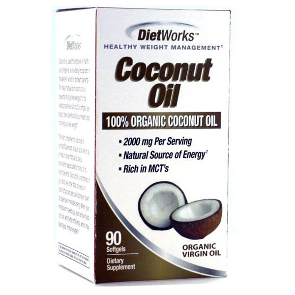 Diet Works Coconut Oil    90 Softgels