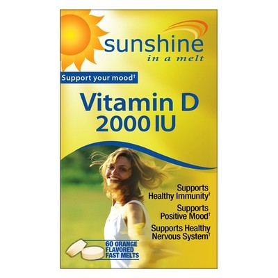 Sunshine Vitamin D-3  2000 IU   60 Orange Flavor Fast Melts