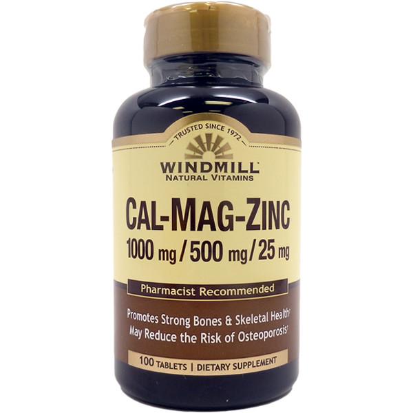 CAL-MAG-ZINC 1000mg/ 500mg/ 25mg      100 Tablets
