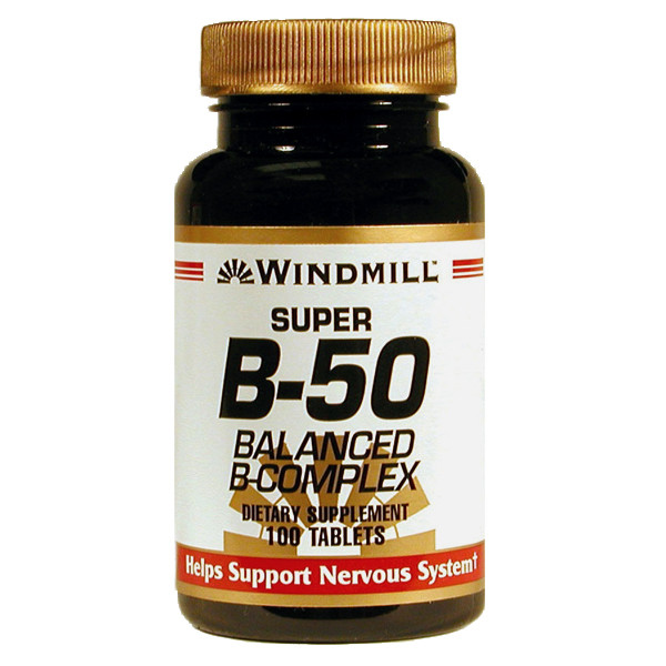 Super B-50 ( Balanced B Complex) 100 Tablets