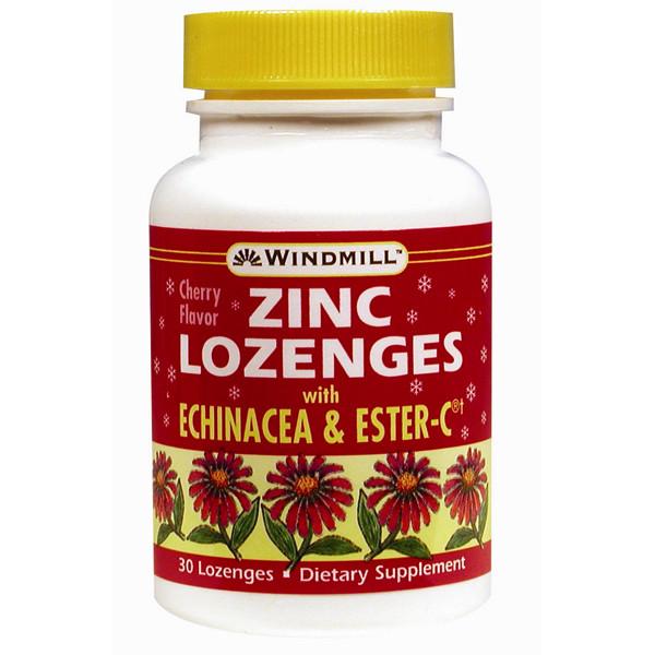 Zinc Lozenges With Echinacea & Vitamin C Cherry Flavor
