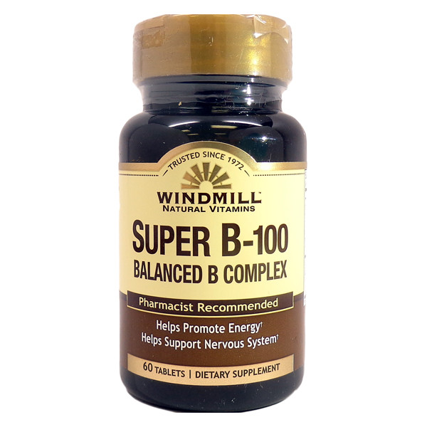 Super B-100 ( Balanced B Complex)  60 Tablets