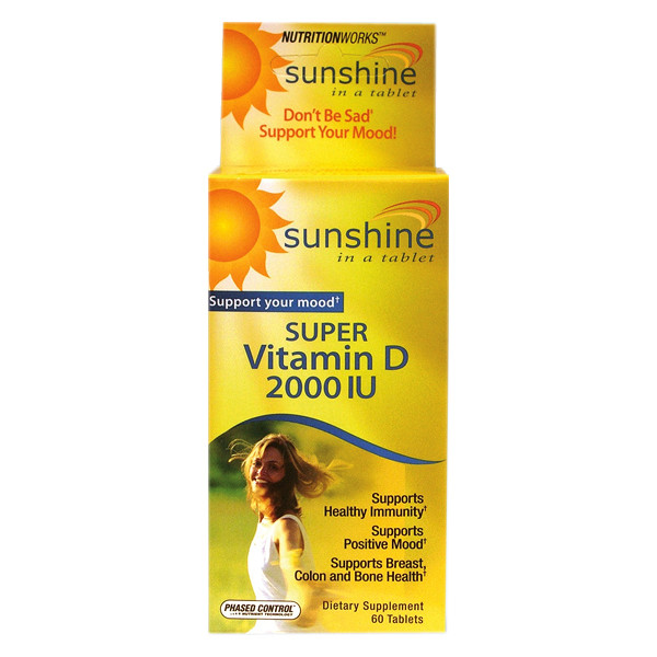 Vitamin D-3 2,000 IU 60 Tablets