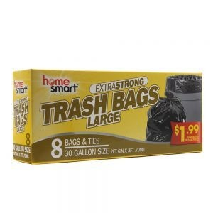 ExtraStrong Trash Bags Large box of 8 bags