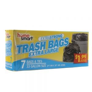 ExtraStrong Trash Bags Extra Large 7 Bags & Ties