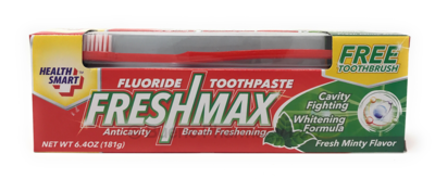 FRESH MAX TOOTHPASTE W/BRUSH MINT 6.4 OZ
