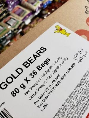 Haribo golden bear 80gr x 36 bags