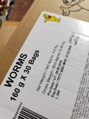 Haribo Halal worms 80gx 30 bags