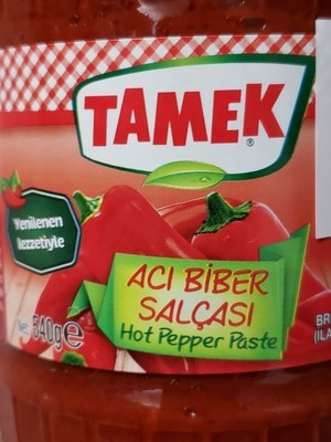 TAMEK PEPPER PASTE HOT 550GR GLASS
