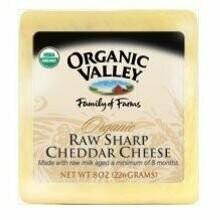 Organic Valley Organic Raw Sharp Cheddar Cheese, 8 Ounce