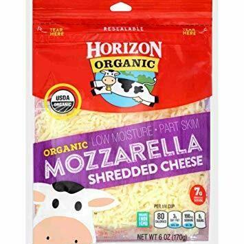 Horizon Organic Mozzarella Shredded Cheese, 6 Ounce