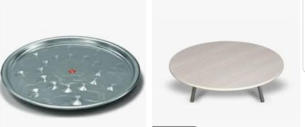 Yer Sofrasi ve sini bir arada - Sofra ROUND FLOOR TABLE WOOD 80 CM with try 85cm