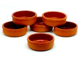 Earthenware Pot For Sutlac guvec CASSEROLE (PIPKIN) 6 PCS