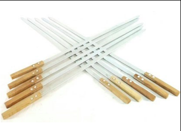 SKEWER FOR ADANA WOOD HANDLE 6 PCS
