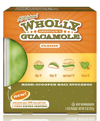 Wholly Guacamole Minis, Home Style, 8 oz