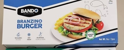 Branzino Burger 2 pcs with bans (levrek burger)