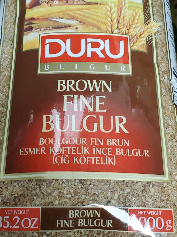 Duru Brown Fine Bulgur (kisirlik ve cig koftelik) 1KG