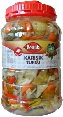 Berrak Mixed Pickles Karisik Tursu 5kg (~11lb)