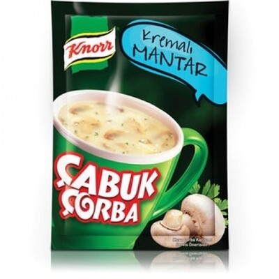 Knorr Cup Mushroom Soup with Cream Quick Serve- Cabuk Corba 19gr X 4