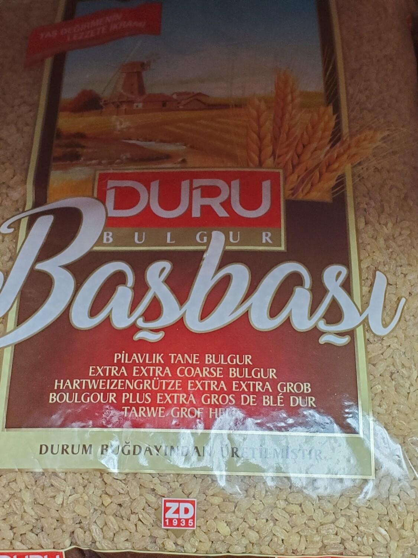 Duru extra extra Coarse Bulgur (basbasi bulgur) 2.5kg Başbaşı Bulgur