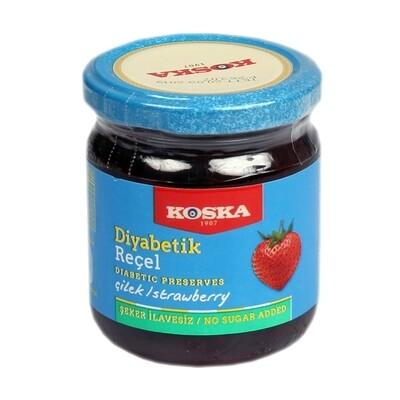 Koska Diabetic Strawberry Molasses (Diabetik Cilek Receli ) 240gr