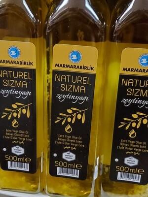 Marmara Birlik Naturel Sizma olive oil 500ml Glass