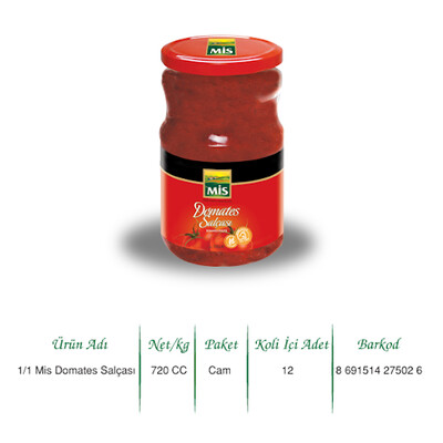 MIS TOMATO PASTE 700ML GLASS