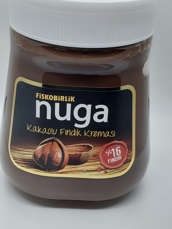 FISKOBIRLIK NUGA HAZELNUT SPREAD W COCOA 350GR GLASS